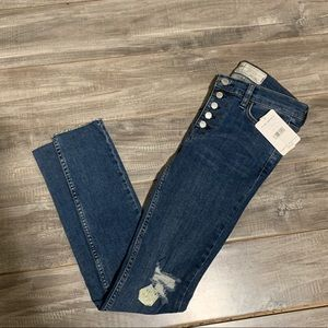Free People It Denim Button Fly Jeans NWT $78